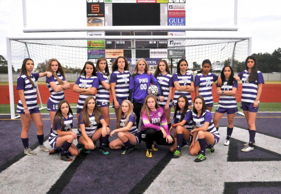 The 2019 Port Neches-Groves Indians varsity girls soccer team.