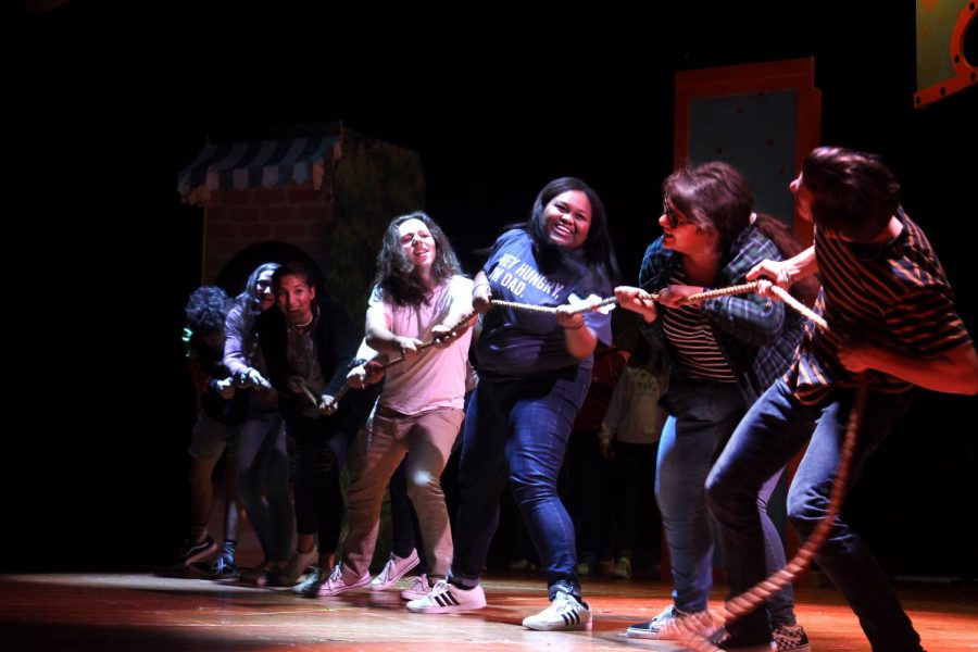 Members of the Indian Players rehearse for the upcoming production of 'Freaky Friday.'