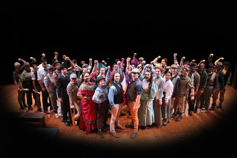 The+Indian+Players+2019+cast+of+%22Newsies.%22