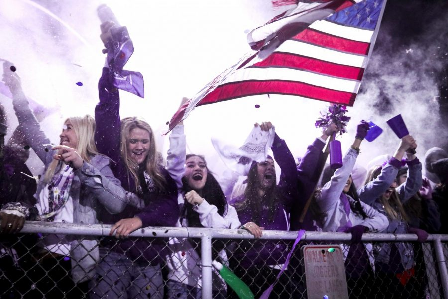 The+student+section+erupts+as+time+expires+on+the+Indians%27+27-21+rivalry+win+over+Nederland+during+the+Mid-County+Madness+football+game+on+Friday%2C+Nov.+8%2C+2019+at+Bulldog+Stadium.+