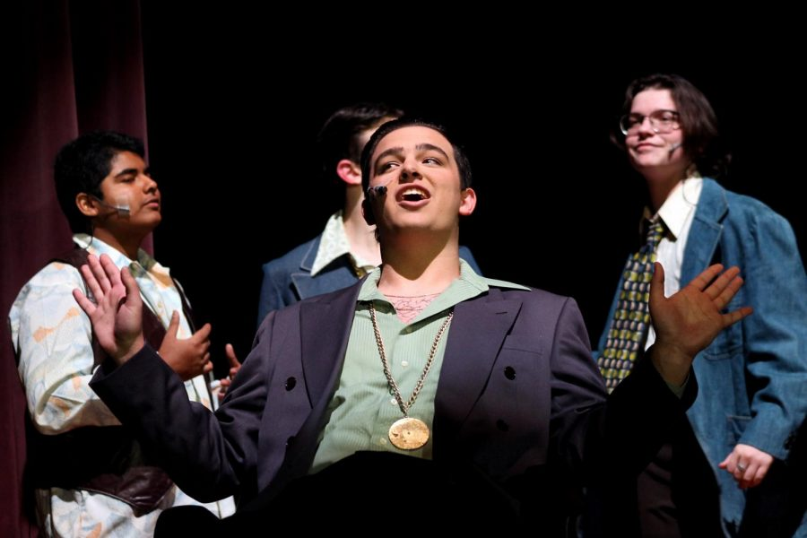 Mitchell Hall, senior, performs during the Indian Players' production of