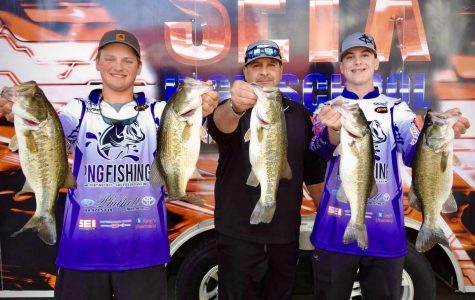 PN-G's Grant Humphrey and Cade Latiolais came in third place during the Feb. 8 SETX High School Fishing Association tournament at Lake Sam Rayburn.