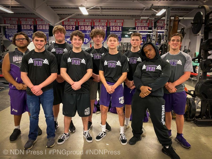 The boys powerlifting team at Thursday's meet at West Brook High School in Beaumont.
