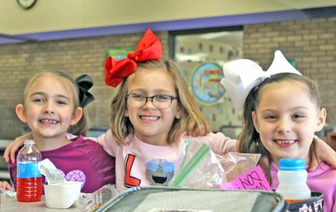 Students celebrate Valentine's Day at Van Buren Elementary.