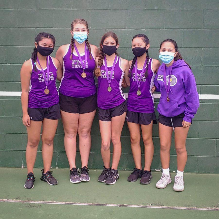 The freshman girls tennis team. (Photo: Coach Wilson)