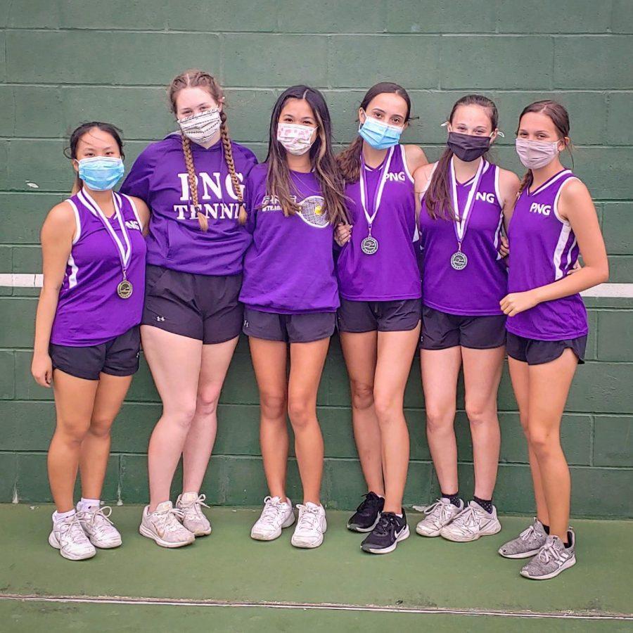 The JV tennis team. (Photo: Coach Wilson)