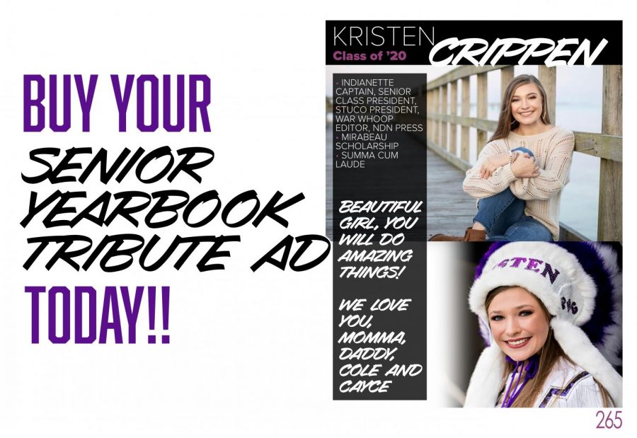 Purchase your senior yearbook tribute or business ad