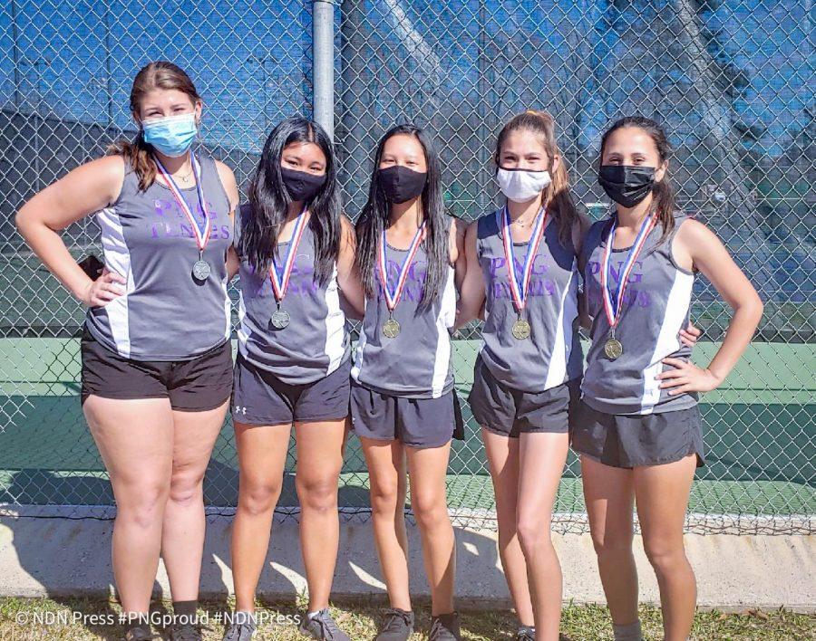 The JV girls tennis team after Thursday's tournament at West Brook.